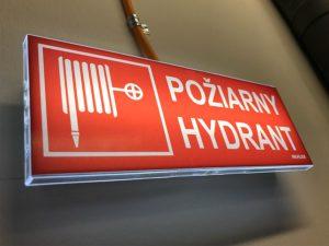 núdzové svietidlo s piktogramom požiarny hydrant