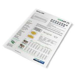 Technický list pre núdzové bezpečnostné svietidlo Sirios LED