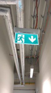 návrh a montáž núdzového osvetlenia pre Tesco Bratislava