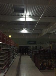 návrh a montáž núdzového osvetlenia v Tesco Žilina