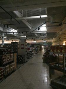 skúška, návrh a montáž núdzového osvetlenia v Tesco Žilina