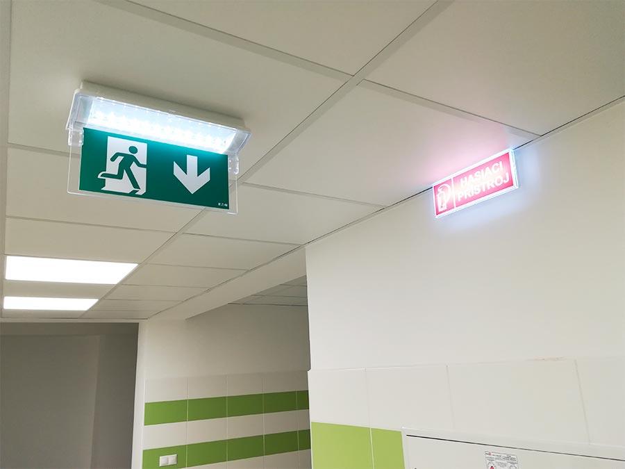 systém pre núdzové osvetlenie - návrh a montáž - Šala