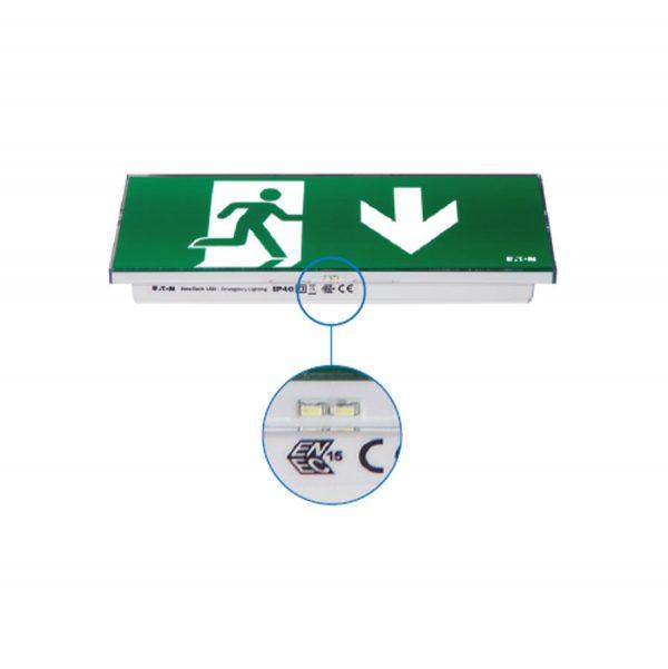 piktogramové bezpečnostné svietidlo NexiTechLED_DOOR-D_CG_S